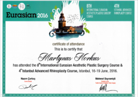 Martynas Norkus certificate Istambul